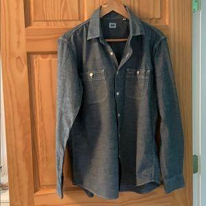 Uniqlo denim chambray men's shirt m